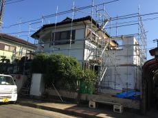 八千代市 K様邸 リフォーム増改築改修工事 外観 施工中