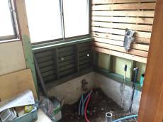 八千代市 K様邸 リフォーム増改築改修工事 風呂場 施工中